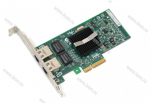 Адаптер Ethernet Intel PRO/1000 PT, 2 x 1Gbit, PCIe x4, High Profile (кл.C)
