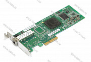 Контроллер HBA Qlogic QLE2460, 1 x 4Gbps Fibre Channel, PCIe x4,  Low Profile (кл.C)